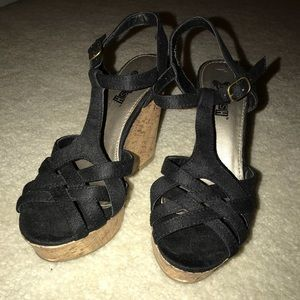 Black Wedges size 5. From Payless